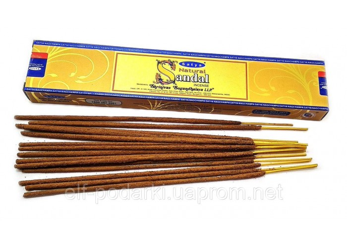 Natural Sandal (Натуральний Сандал)(15 gm) (12 шт/уп)(Satya) пыльцовое пахощі ЗП-32492