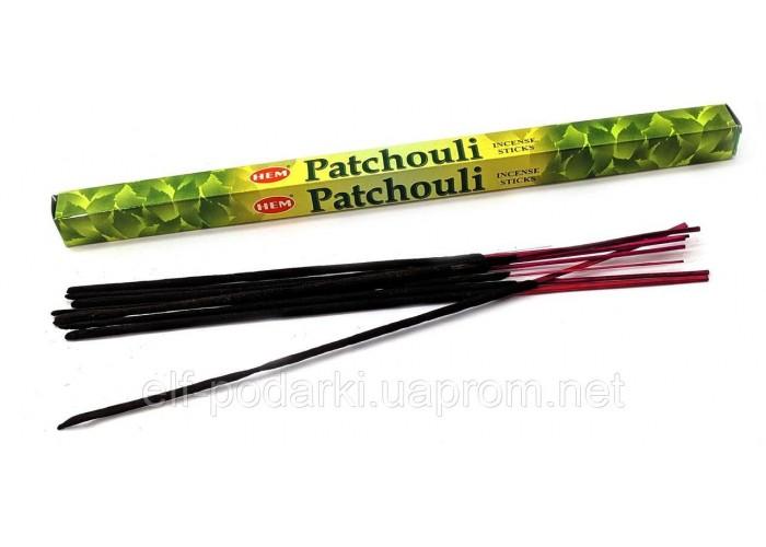 Пахощі Patchouli HEM 8шт/уп. Аромапалички Patchouli (27587)