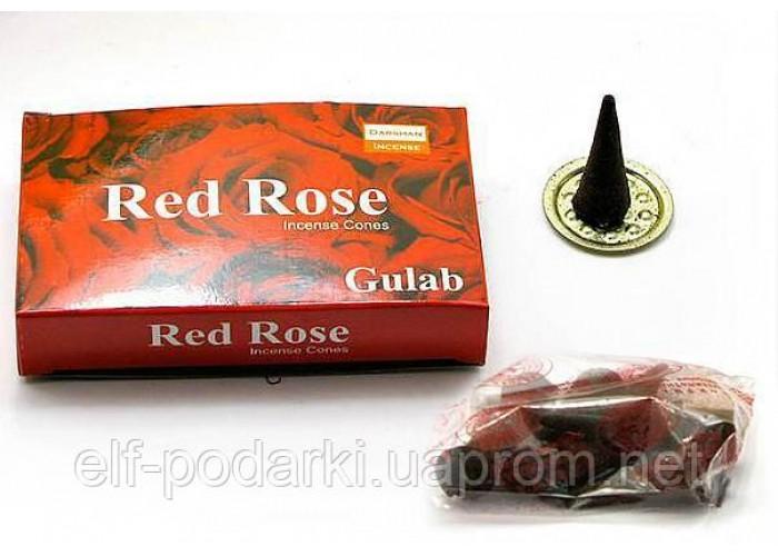 Red rose (Червона троянда)(Darshan)(12/уп) конуси ЗП-30080D