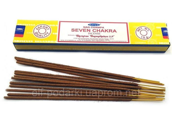 Seven Chakra (Сьома чакра)(15 gms) (12/уп) (Satya) Масала пахощі ЗП-32467