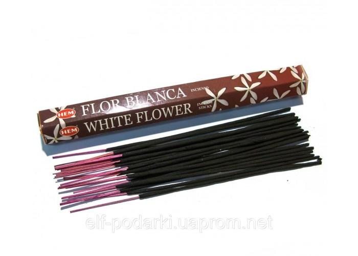 Пахощі White Flower HEM 20шт/уп. Аромапалички Білий квітка (28166K)