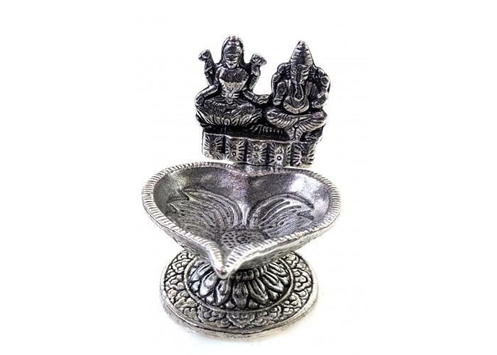 "Аромакурительница метал ""Ганеш і Лакшмі"" 8,5х7,5х7см Непал (29284K)"