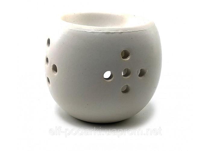 """Аромалампа """"Чаша"""" белая (9х9х6,5 см)"""