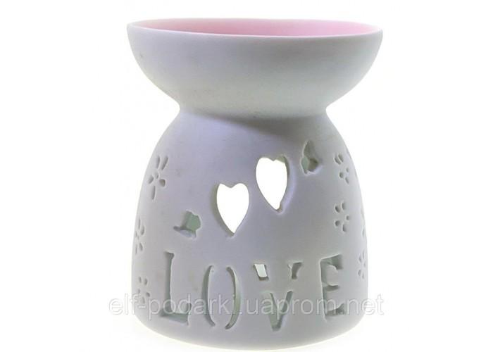 """Аромалампа керамічна """"Love"""" 9х8х8см (32777A)"""