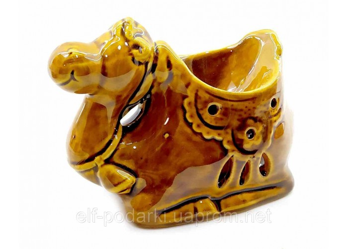 """Аромалампа керамічна """"Верблюд"""" коричневий 9х10х6см (32867)"""