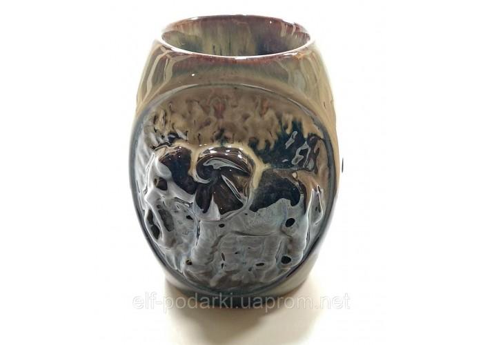 """Аромалампа керамічна """"Слон"""" кавова (12х9,5х8 см) ЗП-32096A"""