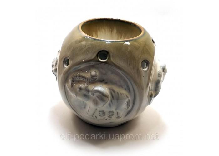 """Аромалампа керамічна """"Слони"""" (11х9,5х9 см) ЗП-32105"""