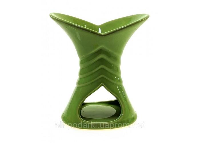 Аромалампа керамічна зелена 12х10х6см (33865B)