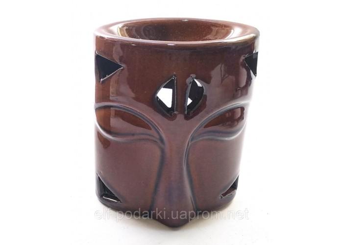Аромалампа керамічна коричнева (10х8х6 см) ЗП-32140A