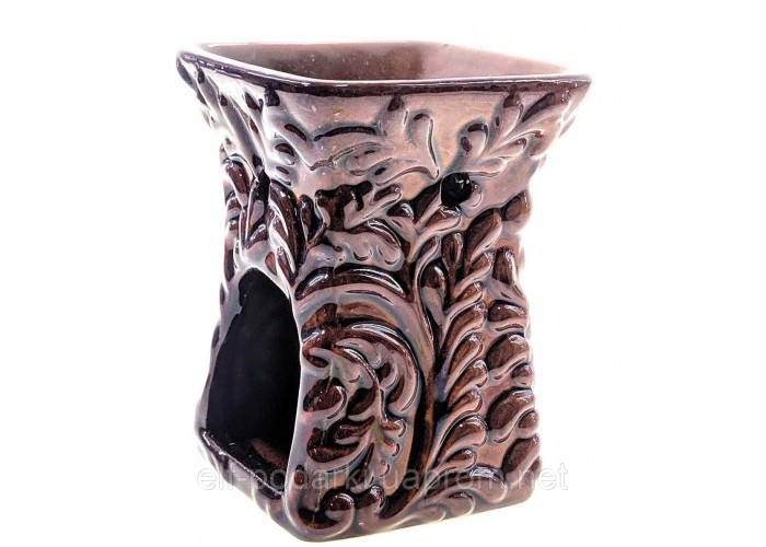 Аромалампа керамічна коричнева глянсова 10,5х8х8см (30761B)