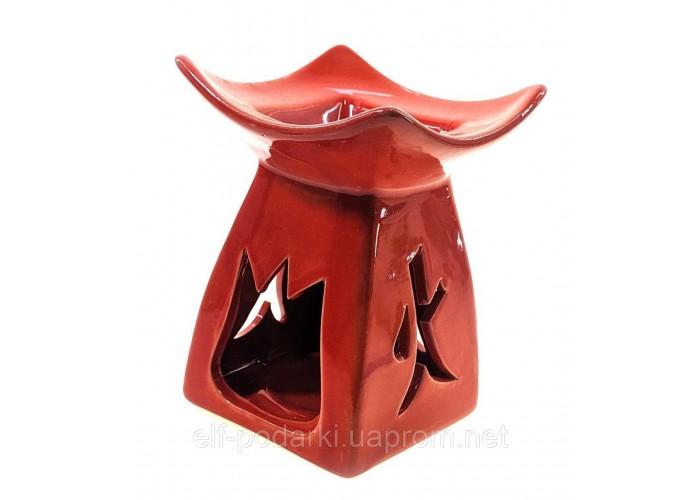 Аромалампа керамічна червона (12х8,5х8,5 см)