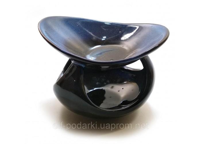 Аромалампа керамічна синя 12,5х10,5х8,5см (32109)