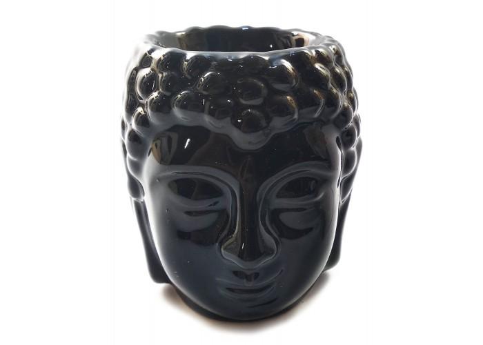 """Аромалампа керамічна чорна """"Будда"""" (7х7х8,5 см) ЗП-32035A"""