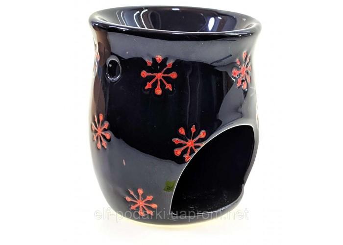Аромалампа керамічна чорна 10х8х8см (33851)