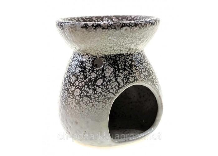 Аромалампа керамічна чорно біла 10х9х9см (33855)