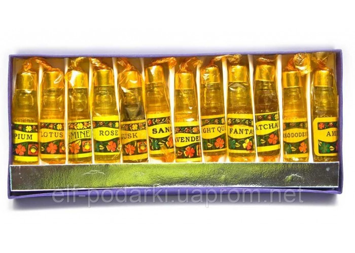 Ароматичні масла набір 12 шт (Індія) ЗП-26757