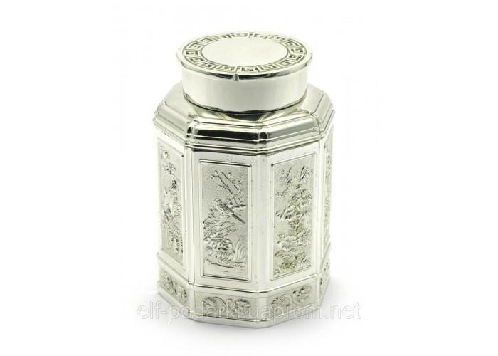 Баночка для чаю метал (11х7,5х7,5 см) ЗП-28015